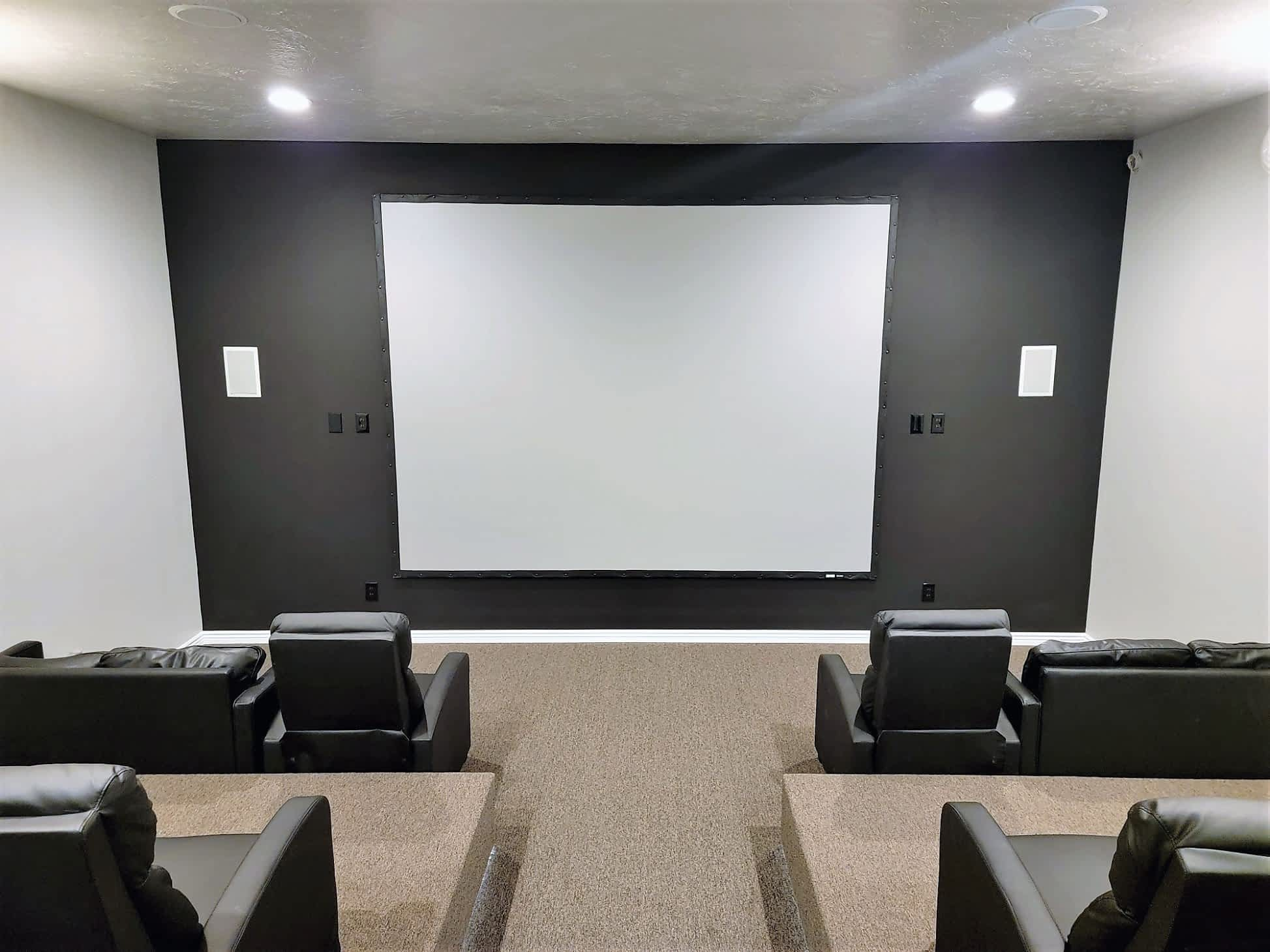 BYU-Idaho - Approved Mens Housing - Theater Room at Pinnacle Point Apartments