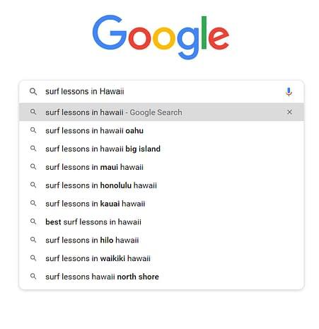 google search terms keywords