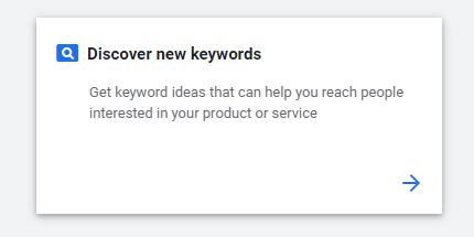 discover new keywords, getting keyword ideas