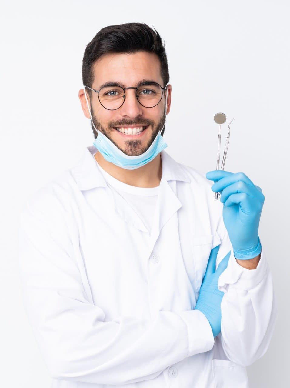Digital Marketing for Dentists-Dental guy holding instruments